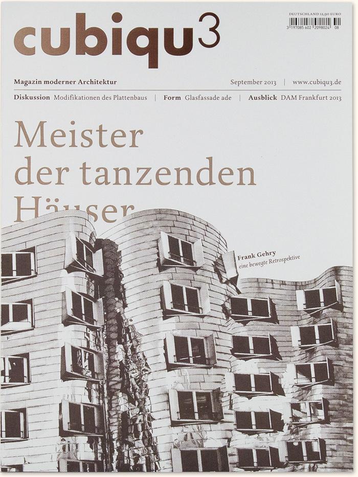 cubiqu3 | Architektur Magazin, Logo, Briefbogen, Visitenkarte, Semesterprojekt Typografie Muthesius Kunsthochschule Kiel