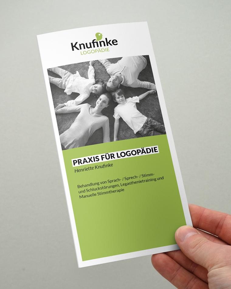 Logopädie Knufinke Magdeburg, Buckau | Logo, Flyer und Geschäftsausstattung