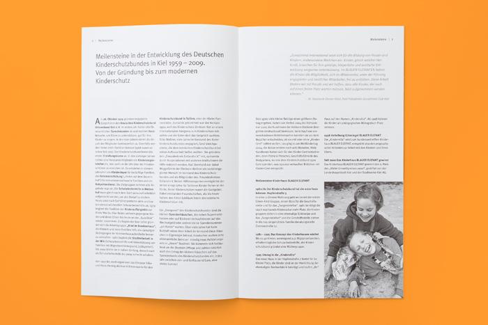 Deutscher Kinderschutzbund Kiel (DKSB) | Broschüre Jubiläum, 50 Jahre Kinderschutzbund