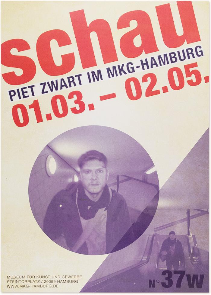 Gestalterportrait Piet Zwart | Semesterprojekt Kommunikationsdesign, Muthesius, fiktives Ausstellungskonzept für MKG Hamburg, interaktives Plakat, Interface