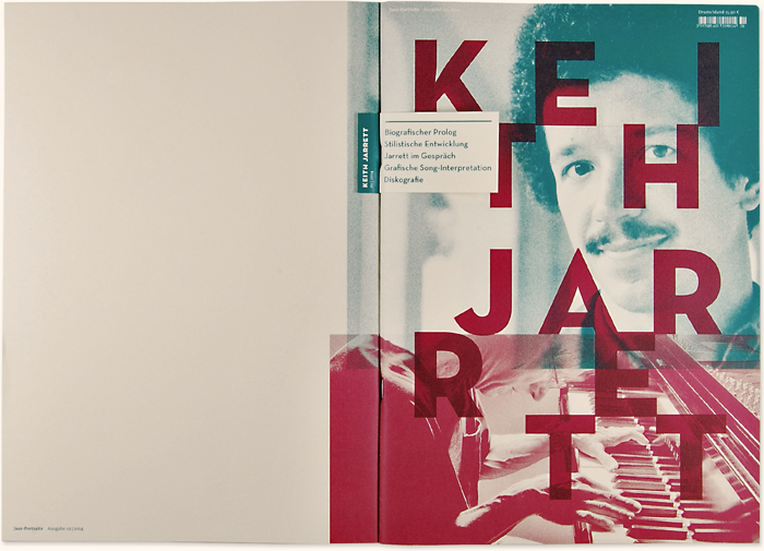Bachelorarbeit Jazz-Magazin, Cover Keith Jarrett | Kommunikationsdesign, Muthesius Kunsthochschule Kiel