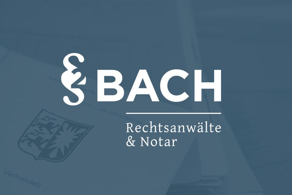 2bach Rechtsanwälte & Notar Bach, Neumünster | Logo, Geschäftsausstattung, Website
