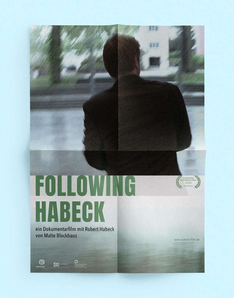 A1 Poster Following Habeck | Dokumentarfilm von Malte Blockhaus über Politiker Robert Habeck, Bündnis 90 / Die Grünen